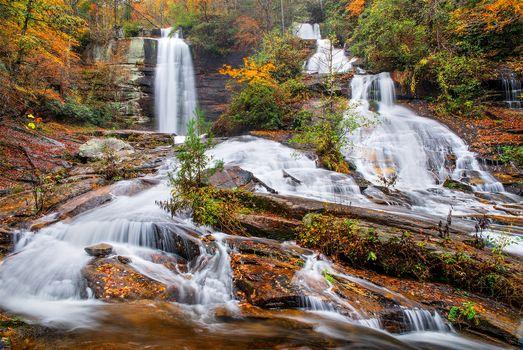 Фото бесплатно Южная Каролина, Водопады, лес