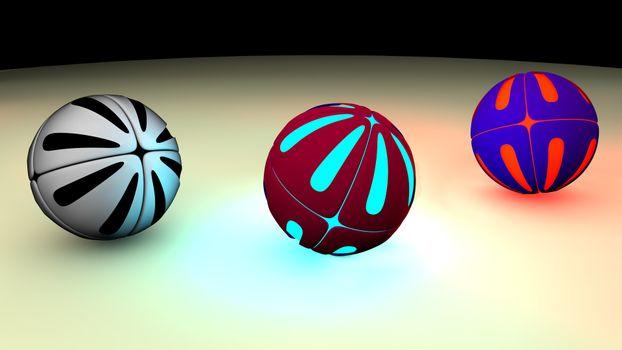 Фото бесплатно арт, моделирование, шарики