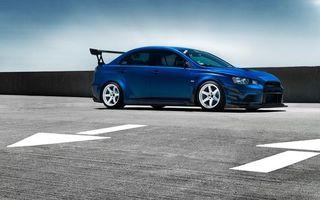 Бесплатные фото Mitsubishi Lancer,синий