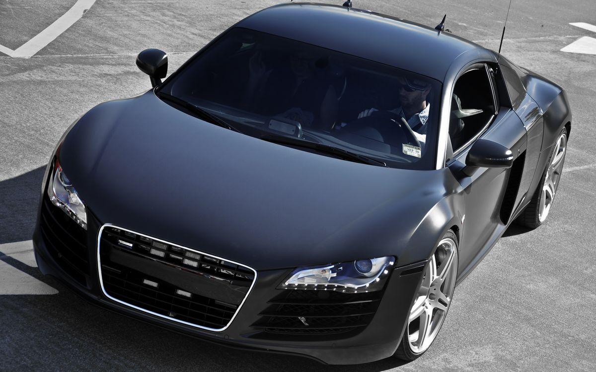 Фото бесплатно ауди р8, черная, фары, диски, воздухозаборник, зеркала, машины