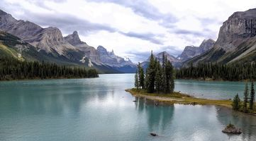 Photo free trees, Canada, Maligne Lake