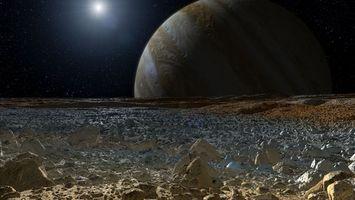 Бесплатные фото планета,Юпитер,спутник,Европа,поверхность,камни,свет