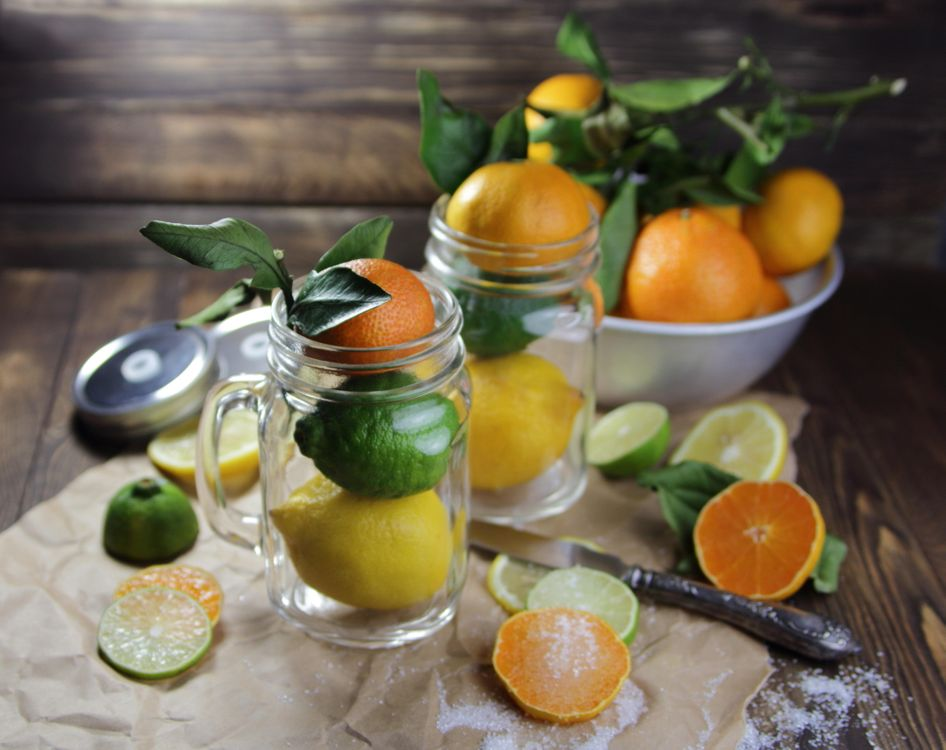 Фото бесплатно цитрусовые, мандарины, лайм, лимон, фрукты, еда