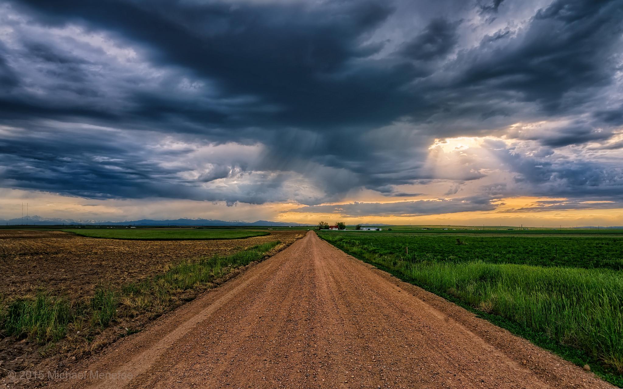 Колорадо, закат, поле