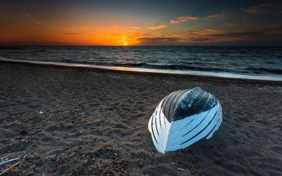 Бесплатные фото лодка,пляж,море,закат