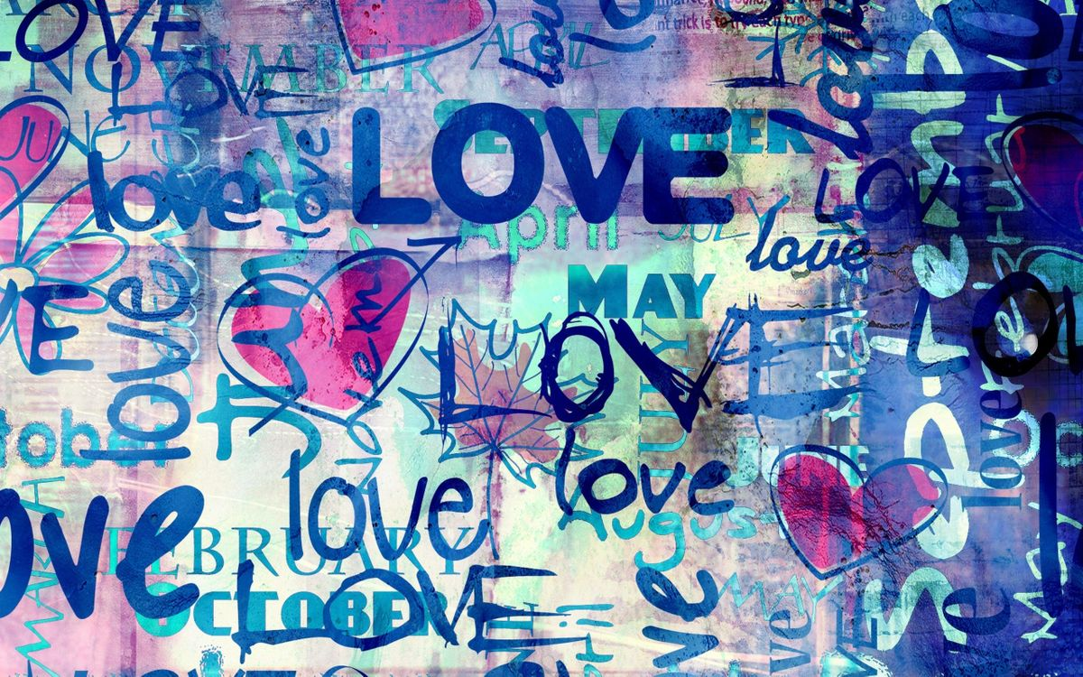 Photos for free inscriptions, graffiti, love - to the desktop