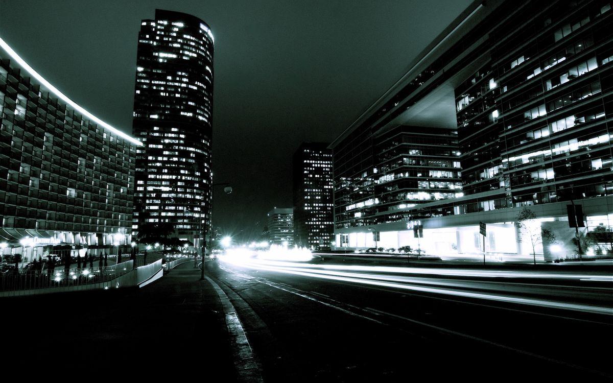 Обои ночь, дома, здания картинки на телефон