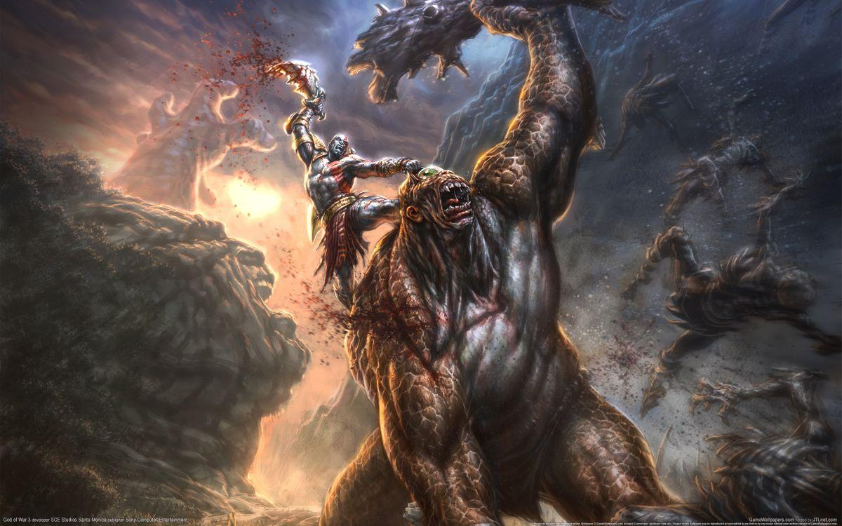 Фото бесплатно бог войны, убийца, смерть, чудовище, игры