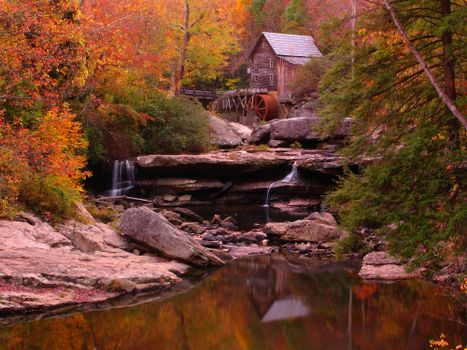 Photo free Glade Creek Grist Mill, West Virginia, autumn
