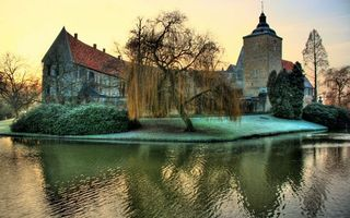 Фото бесплатно Гамбург, Германия, дерево, река, замок