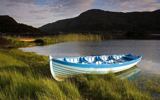 Бесплатные фото лодка,берег,озеро,горы