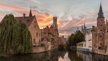 Бесплатные фото Brugge,Брюгге,Бельгия,закат