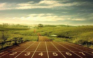 Фото бесплатно дорожка, беговая, разметка