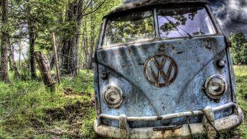 Фото бесплатно фольцваген, микроавтобус, лес