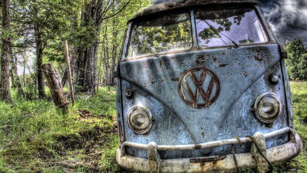 Photo free Volkswagen, minibus, wood