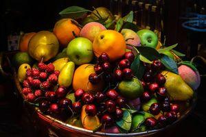 Бесплатные фото фрукты, яблоки, черешня, груша, лимон, малина, ягоды