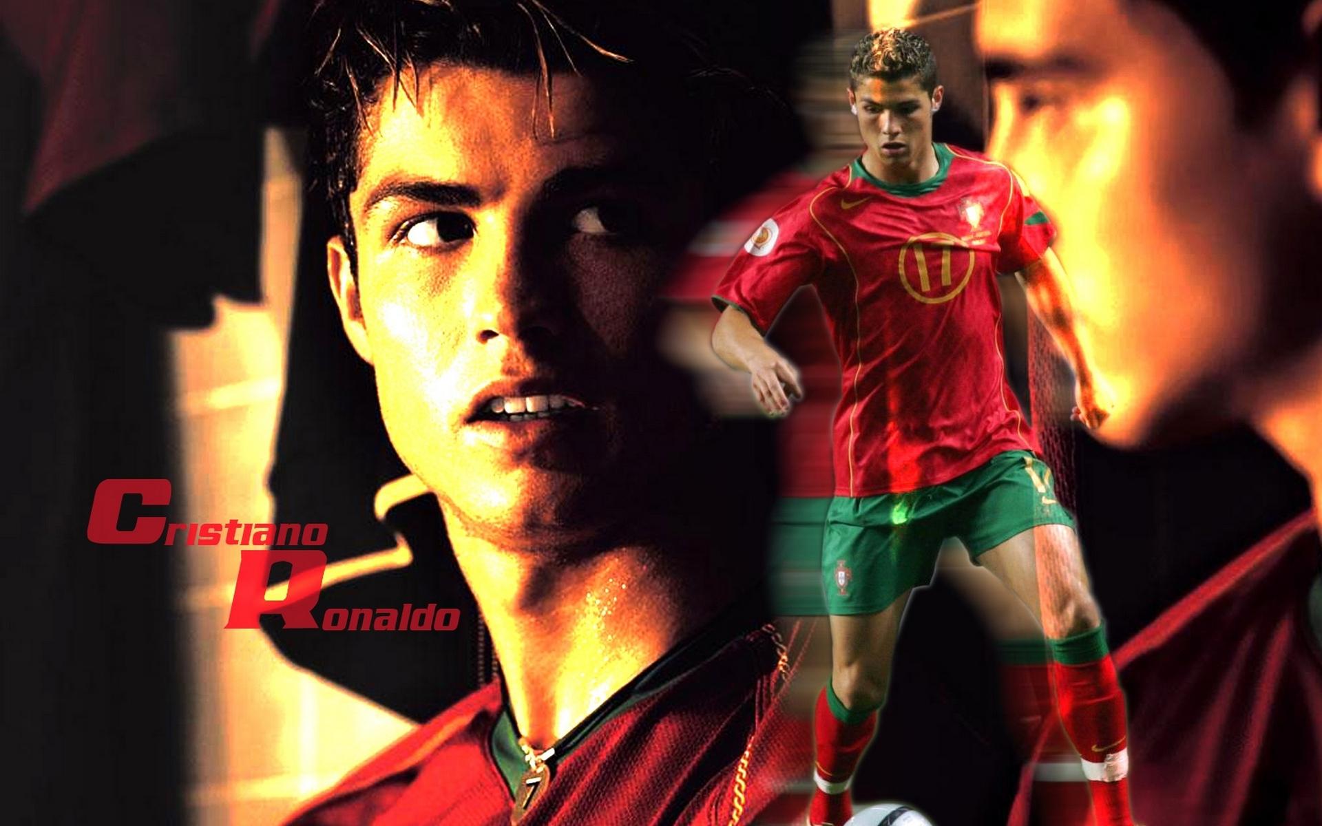 Обои Криштиану Роналду, футболист, форма, надпись