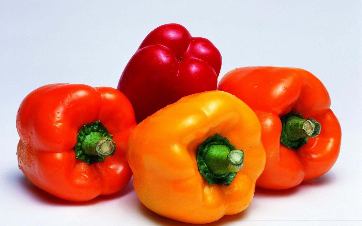 Картинка перец, сладкий, болгарский, паприка, овощь на рабочий стол. Скачать фото обои еда