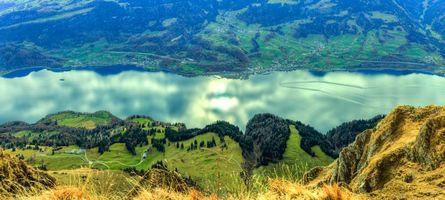 Фото бесплатно Швейцария, панорама, река