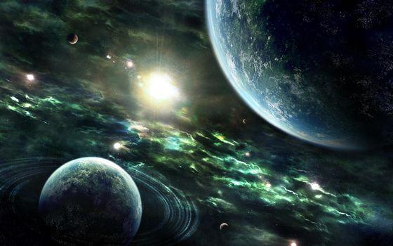 Бесплатные фото планеты,спутник,кольца,звезда,солнечная система,неизвестные миры