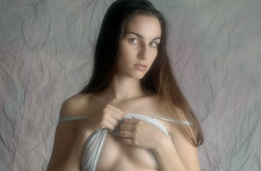 Photo of beauty, model without registration