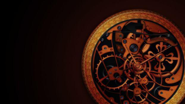 Фото бесплатно Часы, механизм, детали