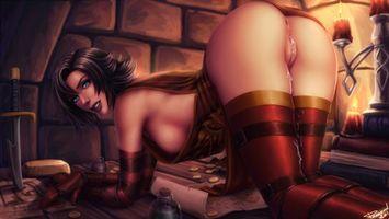 девушка, 3D, комиксы, Comix