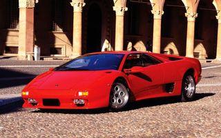 Фото бесплатно ламборджини, спорткар, красный