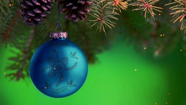 Бесплатные фото новогодняя игрушка,шарик,узор,ветка,елка,шишки