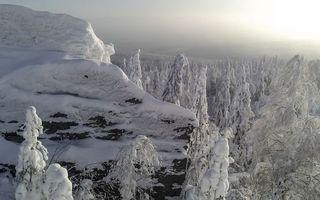 Фото бесплатно зима, горы, скала
