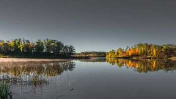 Бесплатные фото осень, озеро, деревья