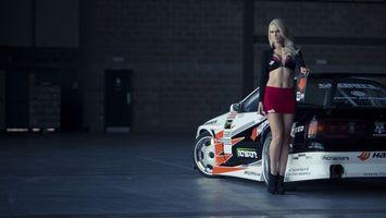 Photo free lights, girl, exhaust
