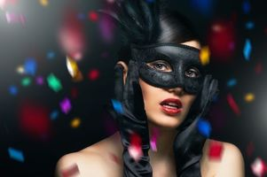 Photo free mood, masked girl, beauty