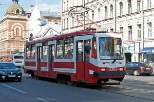Фото бесплатно трамвай, рельсы, улица
