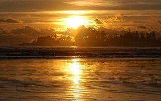 Бесплатные фото вечер,река,птицы,деревья,небо,солнце,закат