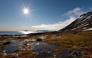 Фото бесплатно небо, горы, берег