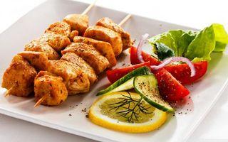 Фото бесплатно тарелка, шашлыки, мясо
