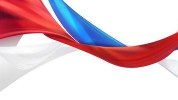 Бесплатные фото флаг, России, нарисован, красками, фон, белый, свобода