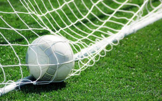 Бесплатные фото футбол,мяч,ворота,сетка,газон