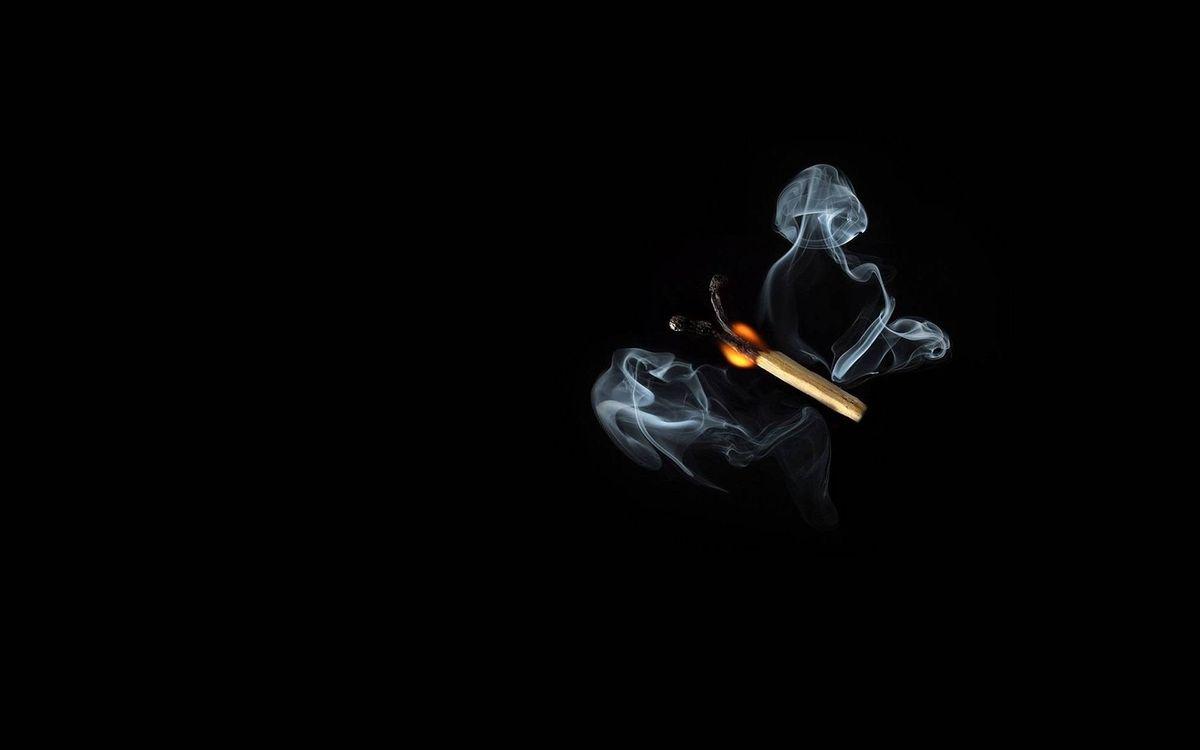 Фото бесплатно пламя, дым, черный фон - на рабочий стол