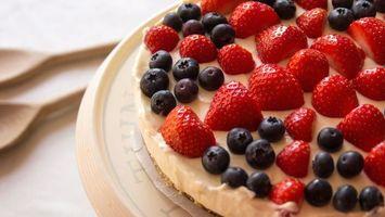 Бесплатные фото торт,крем,ягода,сладость,десерт