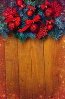 Photo free fir branches, decorations, new year
