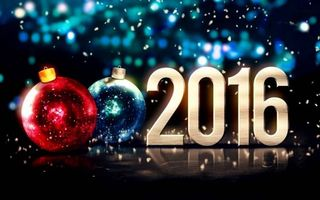 Бесплатные фото с новым годом,2016,надпись,новогодние,игрушки,шарики