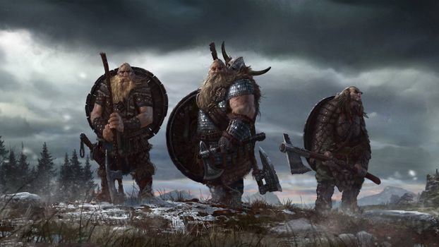 Photo free Vikings, weapons, shields