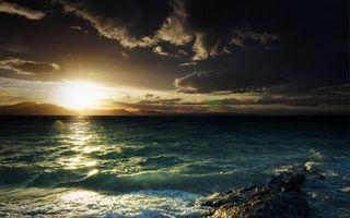 Фото бесплатно волны, скалы, солнце