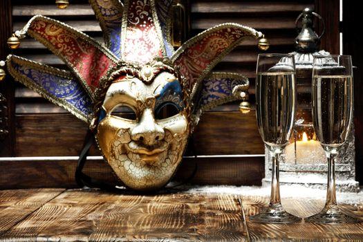 Бесплатные фото новогодние обои,новогодний клипарт,с новым годом,Magical Christmas,шампанское,бокалы