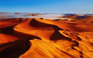 Фото бесплатно дюны, песок, туман