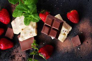 Фото бесплатно шоколад, мята, еда