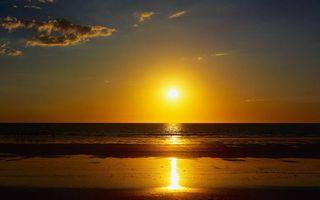 Бесплатные фото берег,песок,море,горизонт,небо,солнце,закат