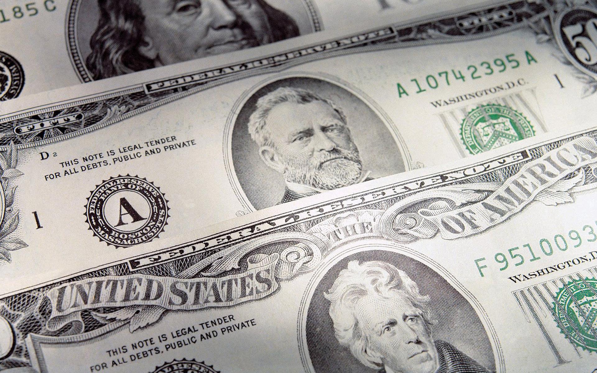 Обои доллары, баксы, купюры, банкноты